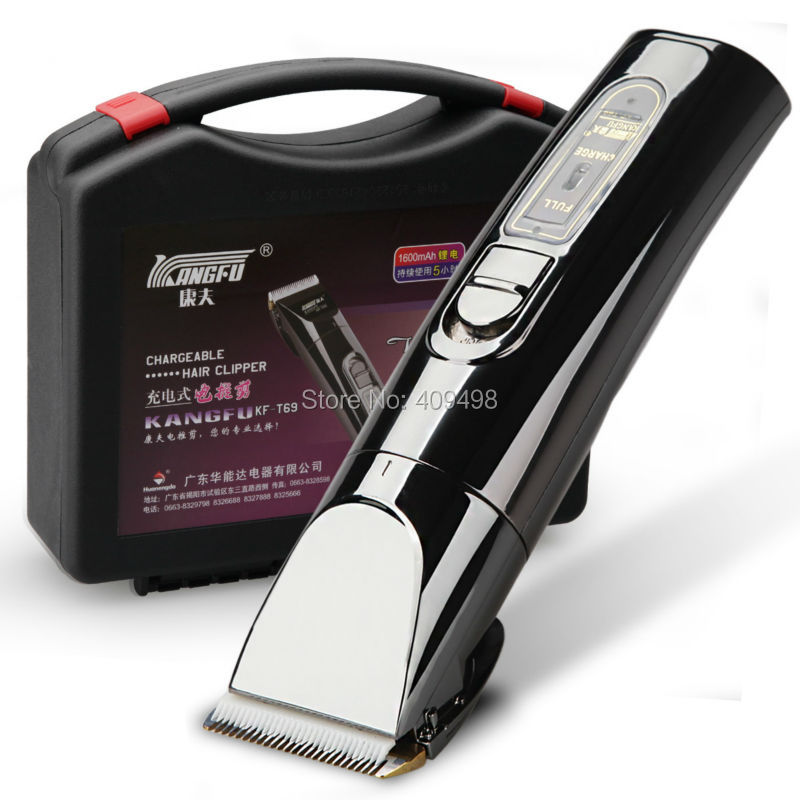 KANGFU KF-T69 black adult electric rechargeable hair clipper trimmer
