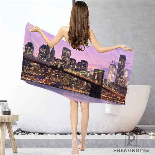 Bathroom Washcloth Towels Face Towel/bath Towel Shower Towels Size 33x74cm/72x143cm#18-12-16-01-3 1 Dependable Custom Brooklyn-bridge-