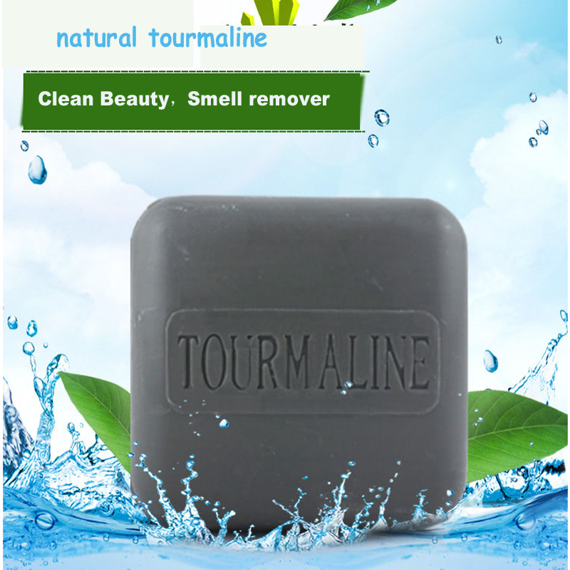 Hot Natural Bamboo Charcoal Soap Black Handmade Soap Remove Blackheads Antiaging Wash Face,Bath,Makeup Remover  120g