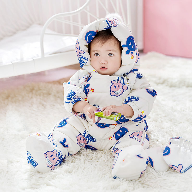 Cute Baby Clothes Autumn Winter Newborn Baby Rompers 2018 New Cotton-padded Baby Boys Girls Jumpsuits Cartoon Infant Overalls boys rompers new hot 100% cotton winter spring autumn summer clothes infant newborn clothing baby clothes