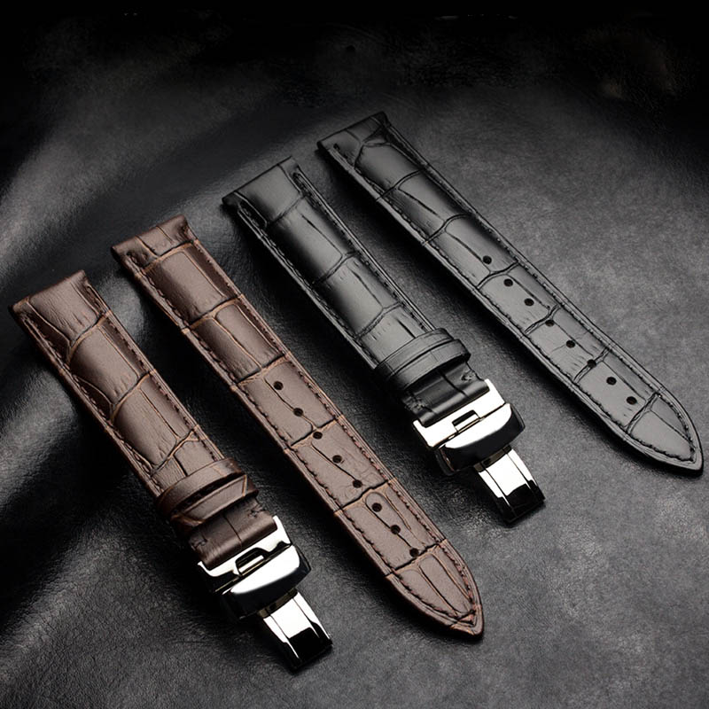 New Watch Bracelet Belt Watch Band Watchbands Strap  24mm 18mm 20mm 22mm Watch Accessories Wristband Genuine Leather