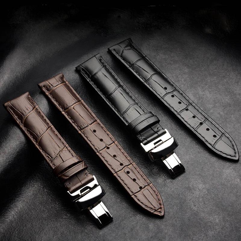 New Watch Bracelet Belt Watch Band Watchbands Strap 16mm 18mm 20mm 22mm Watch Accessories Wristband Genuine Leather цена