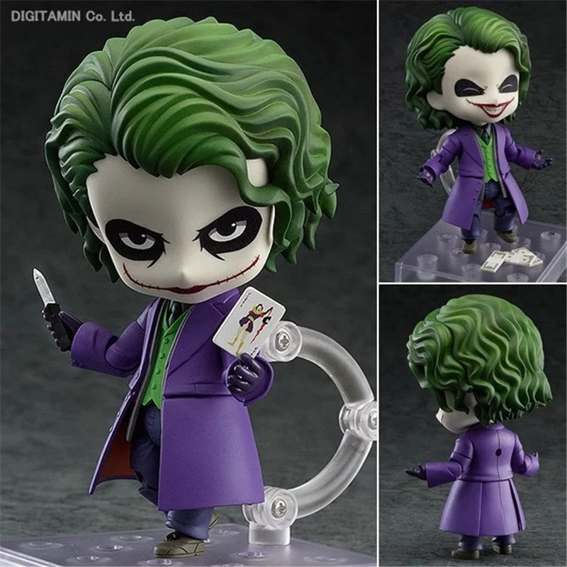 Nendoroid Batman The Dark Night The Joker Villains Edition #566 Brinquedos PVC Action Figure Collection Kids Toys 10cm
