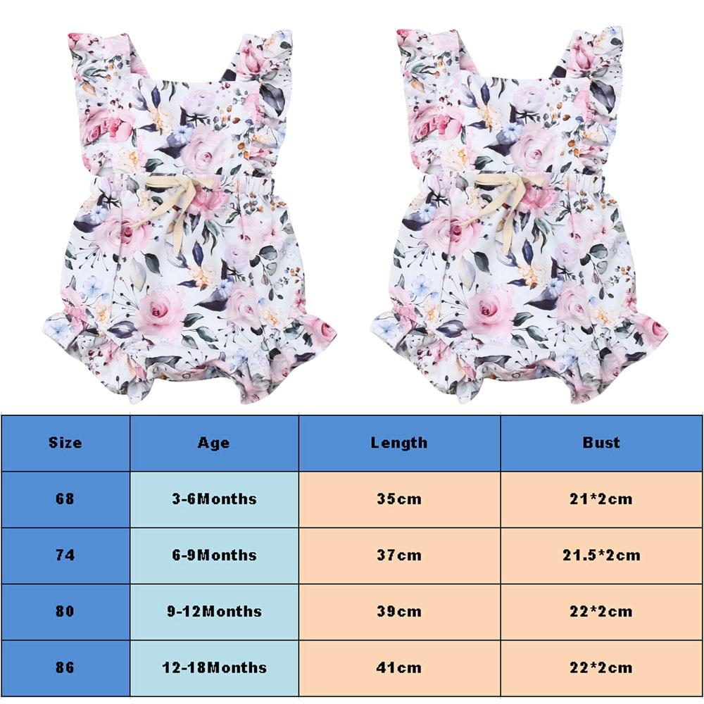 3M-18M Newborn Infant Baby Girls Romper Clothes Outfit Summer Jumpsuit Playsuit
