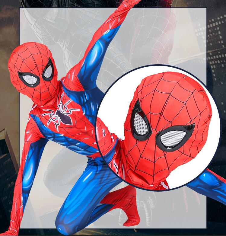 Free Shipping 3D Spiderman Costume Spider Man Suit Spider-man Costumes Adults Children Kids Spider-Man Cosplay Clothing