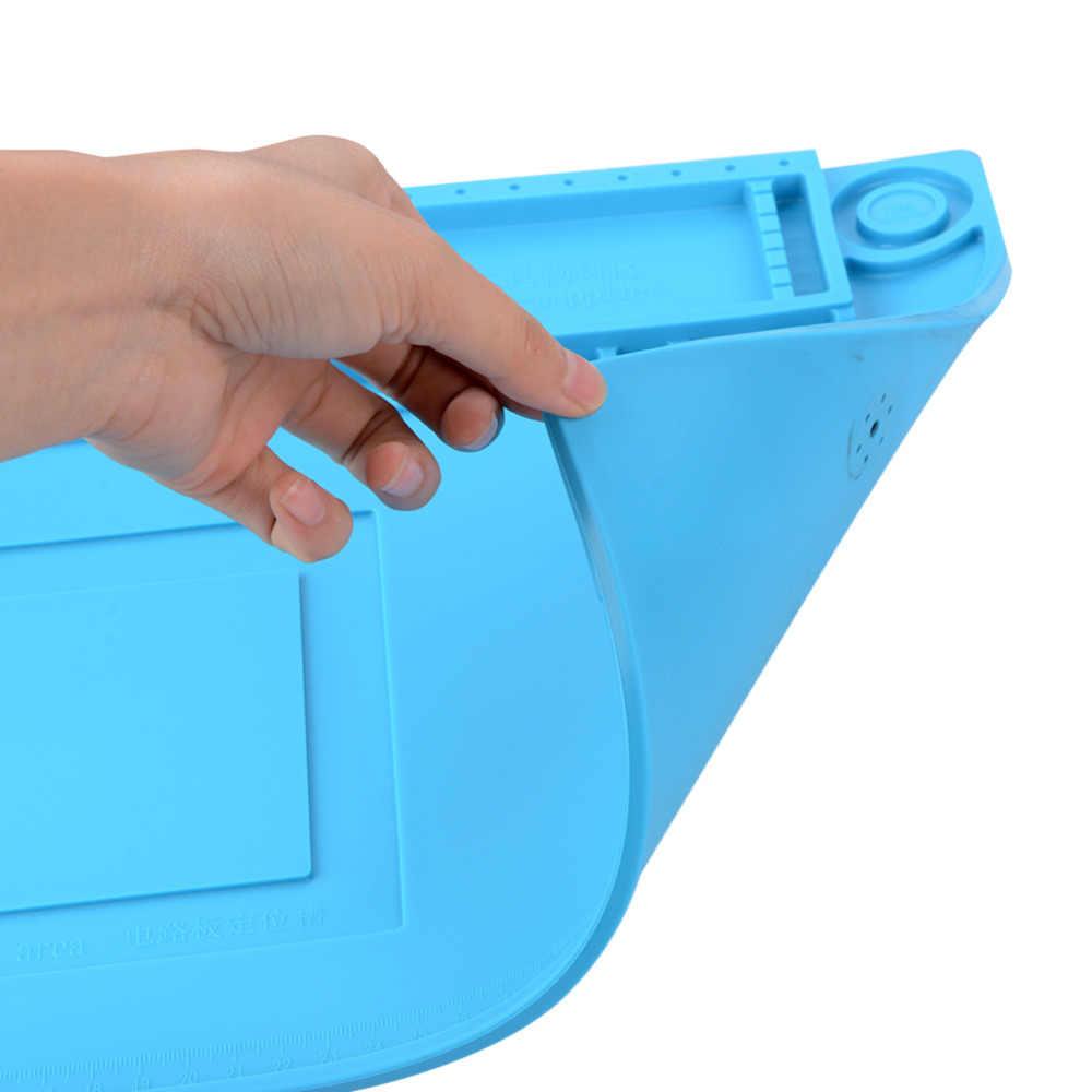 Heat Desk Mat Pad Silicone Platform Soldering Repair Insulation Maintenance Work