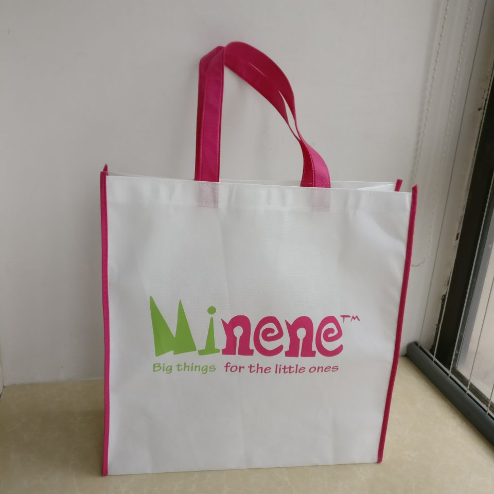 500pcs/lot Custom Reusable Recycle Eco-friendly Grocery Supermarket Shopping Mall Carrier Non Woven Bags