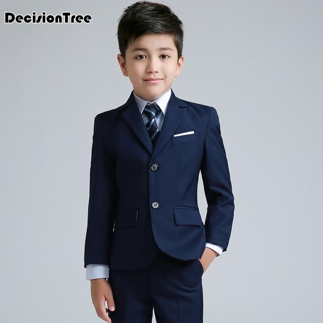 2019 new boys wedding costume formal blazer suits england style boys prom vest blazer suit children clothing set