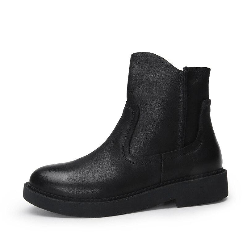 Botas Las Botines Negro Zapatos Cómodo Mujer Tamaño De Mano Mujeres Más Señoras Hecho 41 Cuero A Naturales Talón xq0FFXgdw
