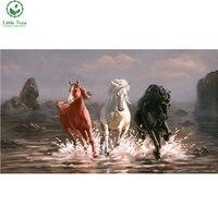 Деревце оптовая продажа с фабрики три лошади друг алмаз живопись полный мозаика вышивка домашний декор, роспись стен вышивка крестиком