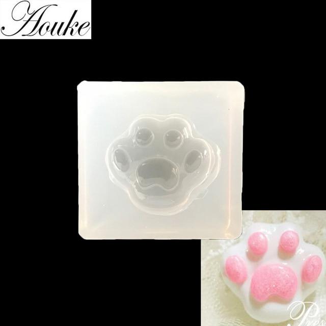 1 Pz Dog Foot Print Forma Colla Uv Segnalibri Muffa Cristallo
