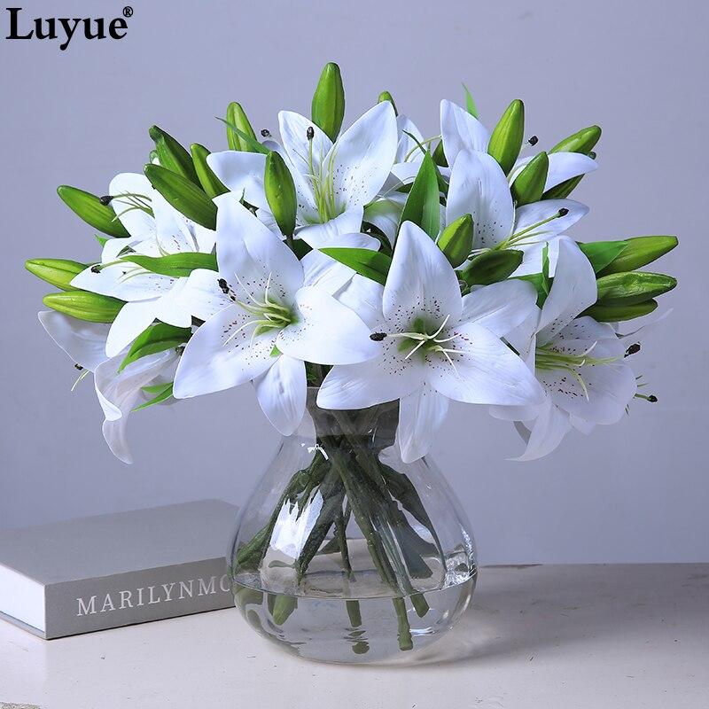 Luyue, 11 шт., искусственные цветы для украшения свадьбы, реалистичные цветочные бутоны, цветы из пенополиуретана, Высококачественные эластичн...