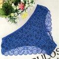 2016 Мода Женщин Underwear Sexy Кружевные Трусики Цветочный Принт Трусы Tansparent Трусики Женское Нижнее Белье 453