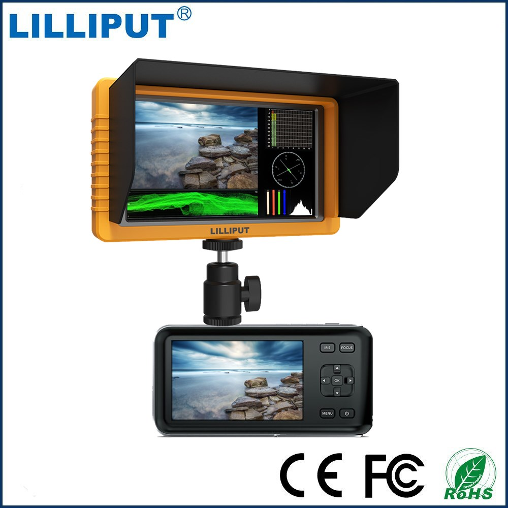 LILLIPUT Q5 5.5 1920*1200 Full HD On Camera Monitor SDI field monitor with 3G SDI HDMI Cross Conversion for dslr hdv new aputure vs 5 7 inch 1920 1200 hd sdi hdmi pro camera field monitor with rgb waveform vectorscope histogram zebra false color