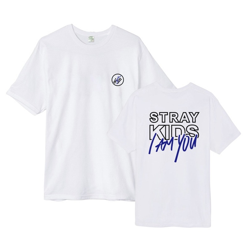 Kpop Stray Kids Album I am YOU men cotton blended tshirt short sleeve causal top unisex T-shirt 2018 new