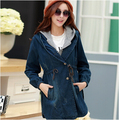 new 2016 autumn winter outerwear & coat women jeans trench coat cardigans slim women casual dress trench coat for women overcoat