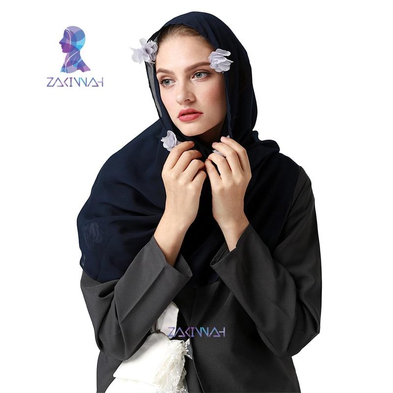 Muslimsk hijab halsduk ny stil varumärke halsduk Flower hijab mode - Nationella kläder - Foto 3
