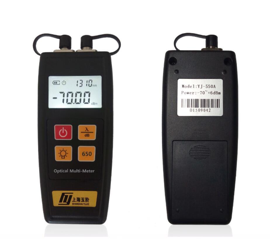 Supply Handheld YJ 550 Fiber optic power Meter Laser Light Source and 5MW Fiber Optic Visual Fault Locator Free shipping