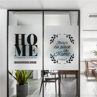 Custom Glass Window Film Electrostatic Frosted Sticker Home Foil Stickers Waterproof For Bathroom Living Room Kitchen