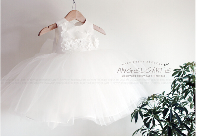 Baby Christening Gown White Tulle Infant Princess Baptism Dress ...
