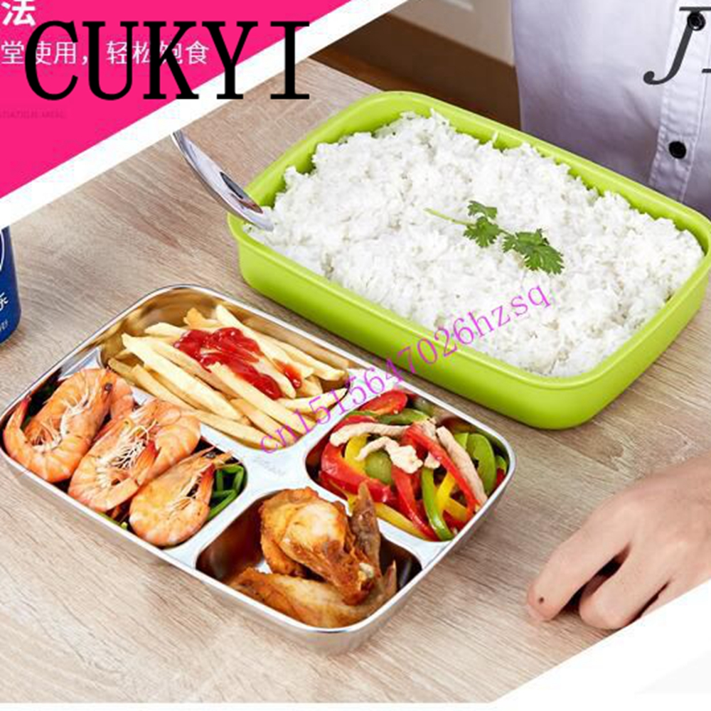 CUKYI food heating lunch box insulation boxes 304 stainless steel  Thermal insulation lunch box  in house or  in car in truck 3d unicorn dessert coffee office pouch thermal insulated neoprene lunch bag women kids lunchbags cooler insulation lunch box