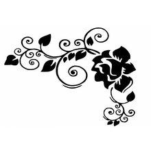 16*12CM 자동차 스타일링 개인 장식 액세서리 클래식 꽃 비닐 스티커 C4-0923