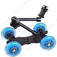 Azul Dslr rueda del patinador cámara Truck Top Dolly cámara Car Kit 11 pulgadas articulado brazo mágico para todos Dslr cámara