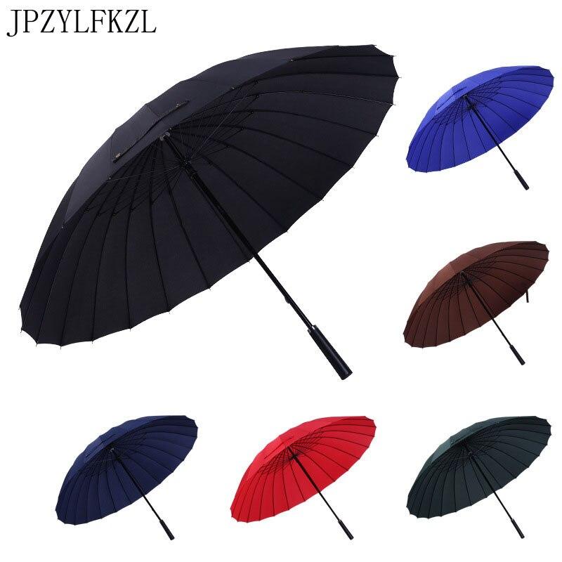 24 osso Aumentar Guarda-chuva 2-3 Pessoas Do Sexo Feminino Masculino Carro de Luxo Grande Corporação Umbrella parasol do Guarda-chuva À Prova de Vento Em Linha Reta