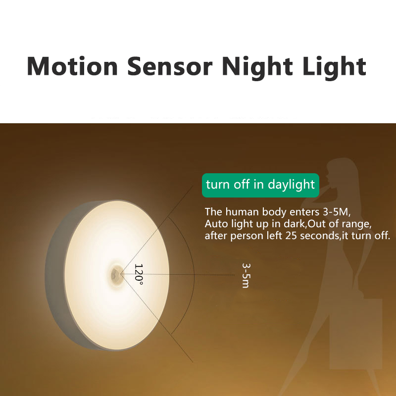 Image 3 - 6 LEDs PIR Motion Sensor Night Light Auto On/Off for Bedroom Stairs Cabinet Wardrobe Wireless USB Rechargeable Wall Lamp-in Night Lights from Lights & Lighting