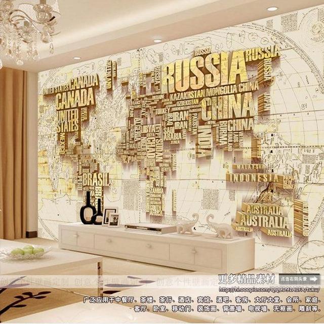 3D photo wallpaper soggiorno TV sfondo 3D stereo lettera Inglese ...