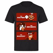 THE PLUMMER HEDGEHOG & BADICOOT UNISEX BLACK PH26 T-SHIRT Novelty Cool Tops Men Short Sleeve Tshirt Print T Shirt