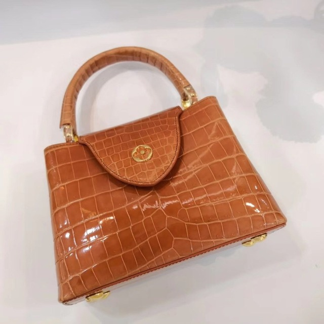 Lgloiv Top Quality Real Crocodile Skin Bags Capucines Bb Women Female Crossbody Bag Brand Luaxury Handbags