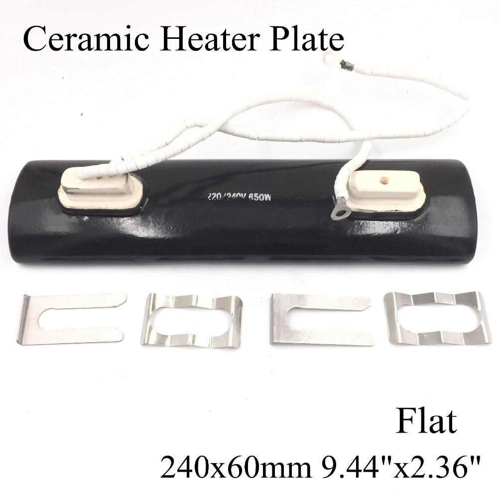 220v 240x60mm Double Head Flat Black Ir Infrared Ceramic