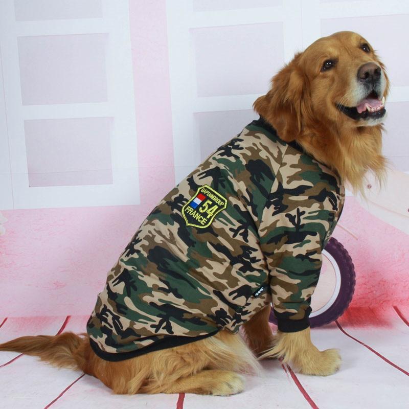 Camouflage dog jacket big dog clothes (1)