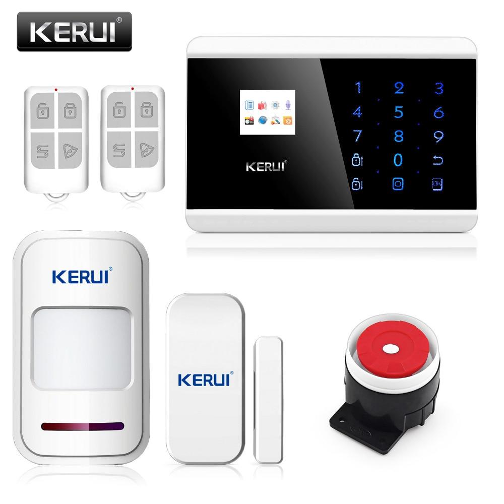 imágenes para Envío gratis kerui ruso voz 433 mhz sistema de alarma inalámbrico home office con conexión de cable sirena