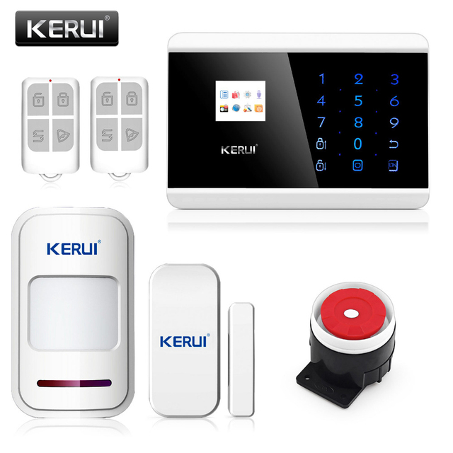 Original KERUI 8218G Super chip GSM PSTN Alarm Systems Android IOS APP Alarms Home Security System