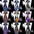 GUSLESON Nueva Moda Paisley Corbata Set 100% Seda Corbata Para Hombre Pocket Square Hanky Gemelos Set Gravata Lazo Para Hombre para La Boda partido