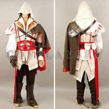 Assassin Ezio Auditore Cosplay Disfraces Uniformes de Anime Cosplay Traje de Halloween Para Hombres Mujeres