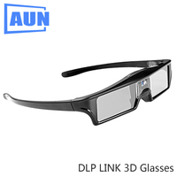 AUN LCD Active 3D Glasses Shutter Glasses Use For All DLP Projector Built In 3 7V