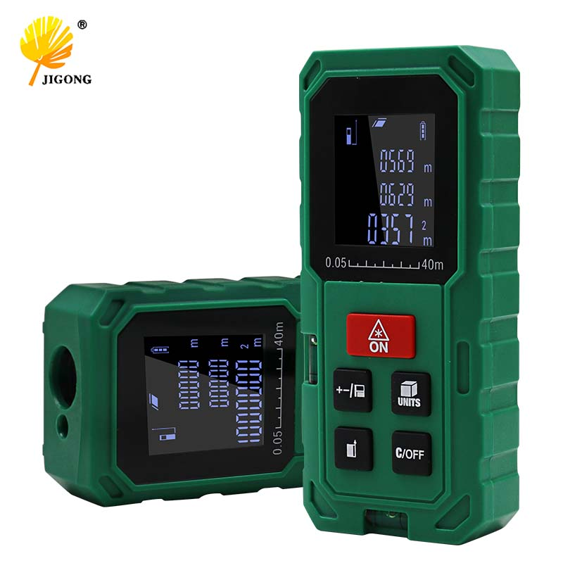 green 40M 60M 80M 100M Optical Laser Range finder Handheld area volume measure telemetre