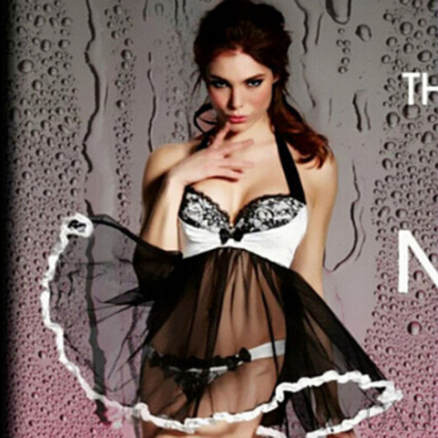 OXOSEXY new hot sale sex products sexy lingerie lace black+white 2 colors sexy lingerie hot women nightwear babydoll dress 201