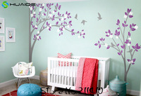 Custom Color Large Tree Wall Stickers For Kids Room Baby Nursery wall Stickers Tree Vinyl DIY Wall Art Decal JW200A