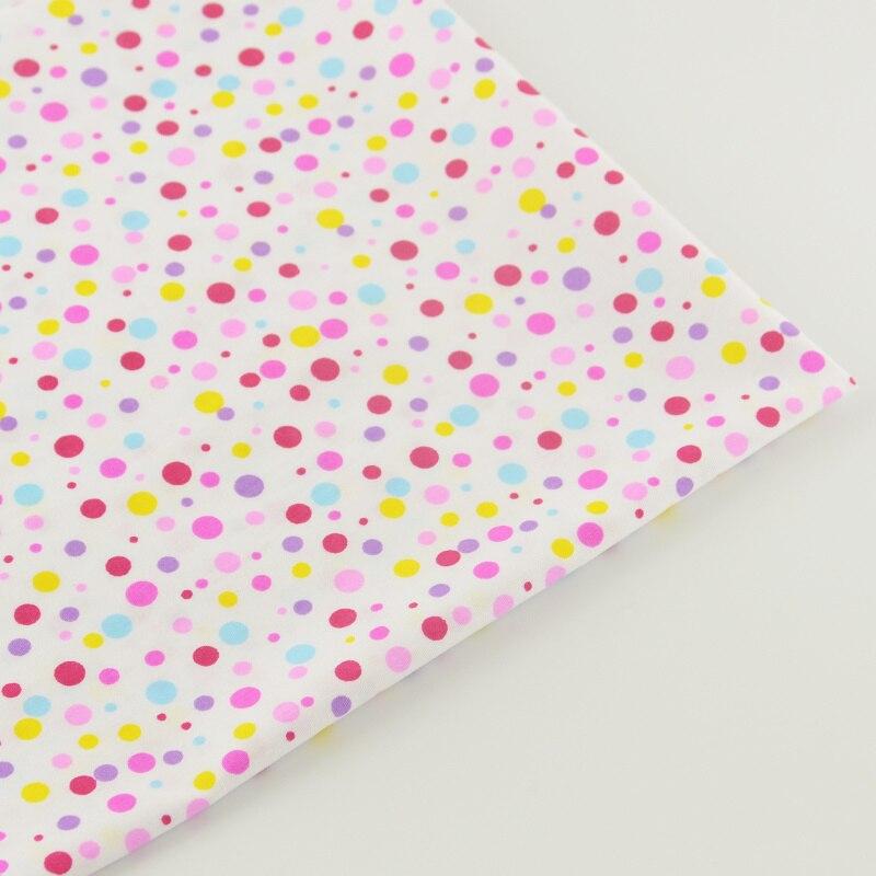 100% Algodón Tejido Blanco Colored Dots Diseño de la Tela Que Acolcha Patchwork