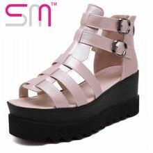 2016 Classic Gladiator Sandals Wedges Platform Sandals Summer Shoes Woman size 35-39 Women's Shoes