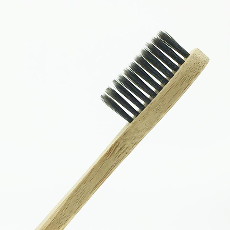 Image 4 - 100 Pieces Black 100% Bamboo Toothbrush Wood toothbrush Novelty Bamboo soft bristle Bamboo Fibre Wooden Handle-in Toothbrushes from Beauty & Health