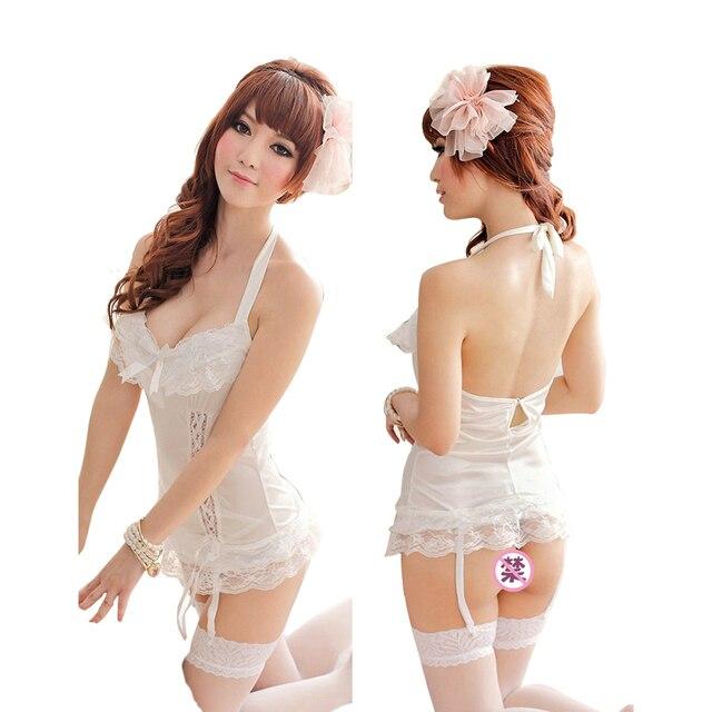 43711ba10c0d9 النساء مثير فستان سهرة ملابس خاصة أكمام ثياب النوم باس النوم المثيرة الملابس  الداخلية الحميمة اللباس