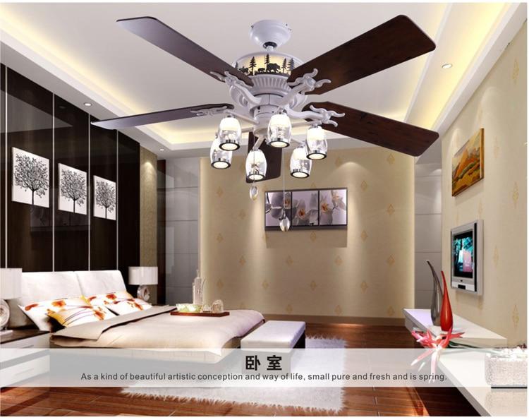 52inch lamp ceiling fan bedroom living room lamps fan restaurant LED ...