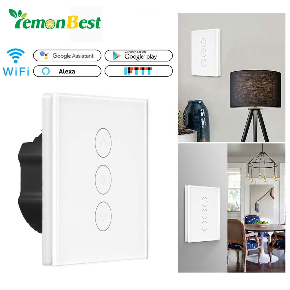 Smart Light Dimmer In Wall Touch Control Wifi Switch Work With How Does A Alexa Google Assistant Ifttt Ac 100v 240v Eu Uk Us Standard Switches From Lights