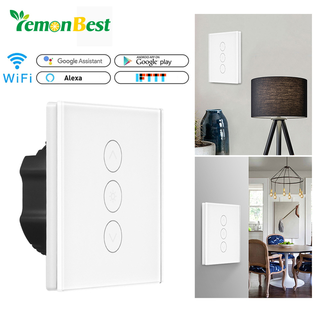 Smart Light Dimmer In Wall Touch Control WiFi Light Switch Work with ...