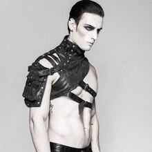 Punk Rave Mechanical Steampunk Accessory Arm Armor Soldier Gothic Adjustable Vest Cosplay Performance Shoulder Bag